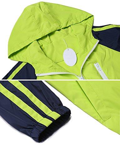 Unibelle Legros Damen Regenjacke Fahrrad Wasserdicht Atmungsaktiv Regenmantel Regenponcho