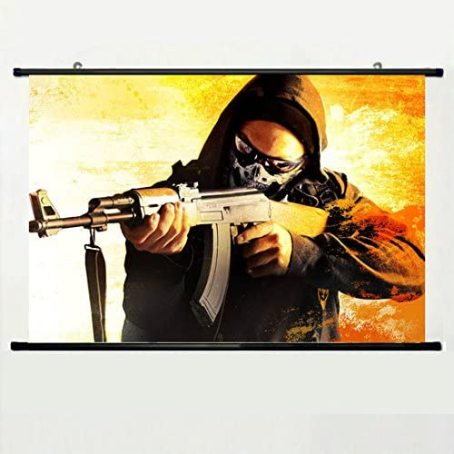 Wall Scroll Poster with Counter Strike Global Offensive Art Anarchist Game Card Steam Cs Go.jpg Home Decor Wall Posters Fabric Painting 23.6 X 35.4 ...