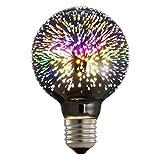 Outgeek Light Bulb, Lamp Bulb LED Colorful Decorative Filament Fireworks Bar Lighting Bulb