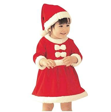 4b1a4383fe5bc Ouneed® 1-12 Ans Fille Noel Deguisement Mere Noel Robe Longue Fille Enfant  Noel Deguisement Robe: Amazon.fr: Vêtements et accessoires