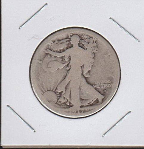 1917 D Liberty Walking (1916-1947) (Obverse Mintmark) Half Dollar (Walking Liberty Half Dollar Mintmark)