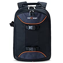 """K&F Concept Super Large DSLR Camera Backpack Bag with Rain Cover for (15.6"""" Laptop Flash/Lens) Canon Nikon Sony DSLR SLR Cameras and Accessories"""
