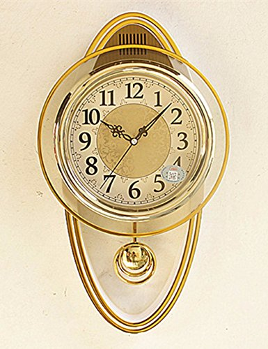 SUNQIAN-Creative fashion personality, European pastoral living room wall clock, quartz clock, clock, wall clock simple,B by SUNQIAN