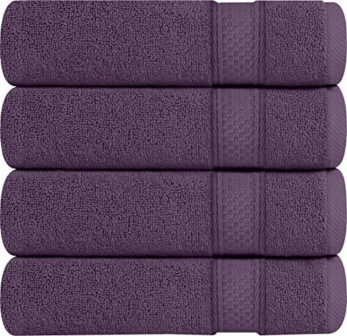 Utopia Towels 700 GSM Premium Bath Towels - 4 Pack Towel Set - (27x54 Bath Towels) - 100% Ring-Spun Cotton Towels for Home, Hotel and Spa (Plum)