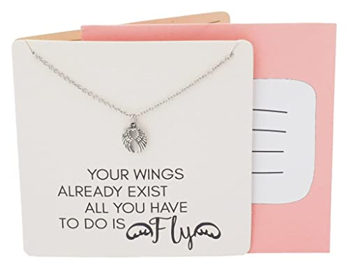 ba4422280 Sports Angelo Guardian Angel Wings Necklace For Sports Lovers, with ...