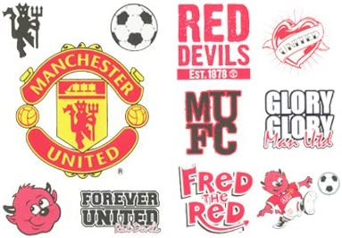 Manchester United Fc Red Devils Tattoo Pack Amazon Co Uk Sports Outdoors