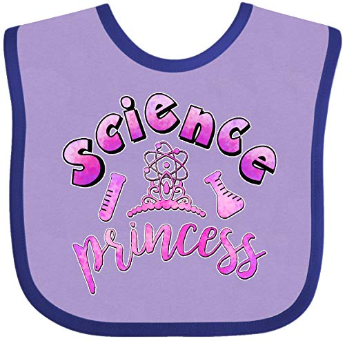 Inktastic - Science Princess with Tiara Baby Bib Lavender and -