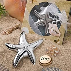 Starfish Design Bottle Opener Wedding Favors, Pack of 48