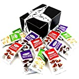 Dolcetto Petites Wafer Bites 3-Flavor Variety: Four 0.7 oz Packets Each of Cookies & Cream, Chocolate, and Lemon in a BlackTie Box (12 Items Total)