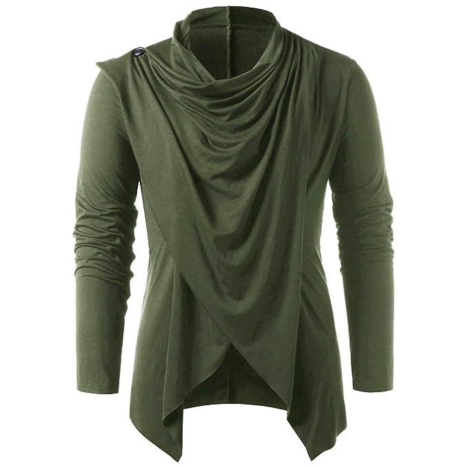 Amazon.com: Beautyfine - Camisa de manga larga para hombre ...