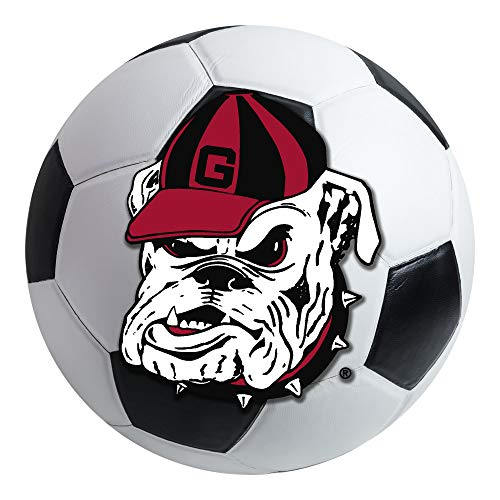 (FANMATS NCAA University of Georgia Bulldogs Nylon Face Soccer Ball)