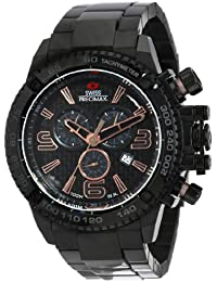 Men's SP13245 Forge Pro Black Dial Black Stainless-Steel Band Watch