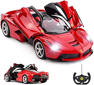 Rastar Remote Control Ferrari Car 1 14 Red Ferrari Toy Car La Ferrari Remote Control Car Amazon Co Uk Toys Games
