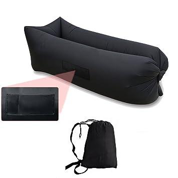 Inflable sofá tumbona silla de saco de dormir, camas de aire, de compresió