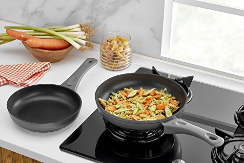 Saflon Titanium Nonstick 8-Inch and 9.5-Inch Fry Pan Set, 4mm Forged Aluminum with PFOA Free Scratch-Resistant Coating from England, Dishwasher Safe