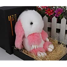 Crazy Cart(TM) Real Fur Rabbit Fashion Home Decoration Handbag Decoration Cellphone Car Pendant Ornemant Toy Plush Doll Lazy rabbit Play dead rabbit