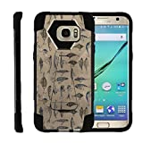 TurtleArmor | Compatible Samsung Galaxy S7 Edge Case | G935 [Dynamic Shell] Hard Hybrid Cover Absorber Resistant Soft Silicone Built-in Kickstand - Fishing Hooks