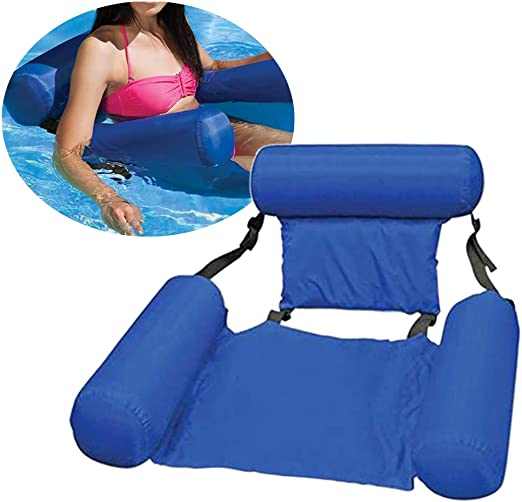 Nakw88 - Silla de agua hinchable para piscina, tumbona para ...