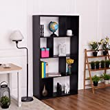 TANGKULA Modern Bookcase Multipurpose Collection Display Storage Bookshelf Black