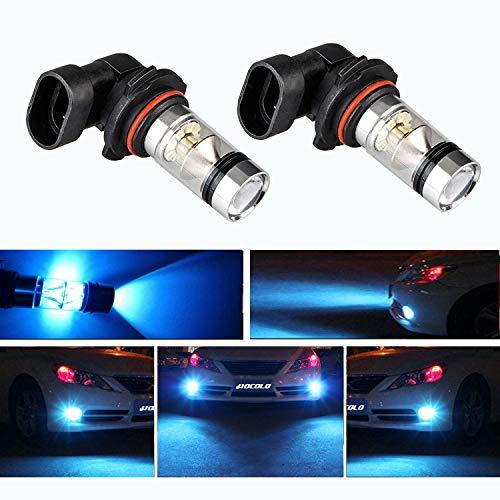 (HOCOLO 9006 HB4 100W Cree LED Fog Light Lamp Bulbs for DRL Fog Driving Lights 8000K Ice Blue High Power LED Bulbs Car Vehicle Lighting Accessories (Set of 2) (9006/HB4, Light Blue))