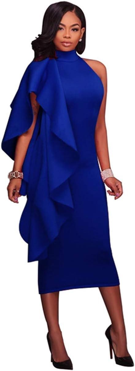 YONGYONGCHONG Falda Larga de Color sólido con Falda Irregular de ...