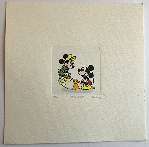 Does not apply MICKEY & MINNIE MOUSE ETCHING ARTWORK SOWA & REISER #D/500 DISNEY HAND PAINTED from Does not apply