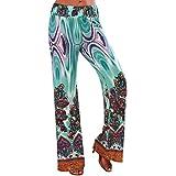 Hot Sale Shybuy Women's Loose Women Bohemia National Wind Printed Trousers Straight Pant Beach Yoga Pants