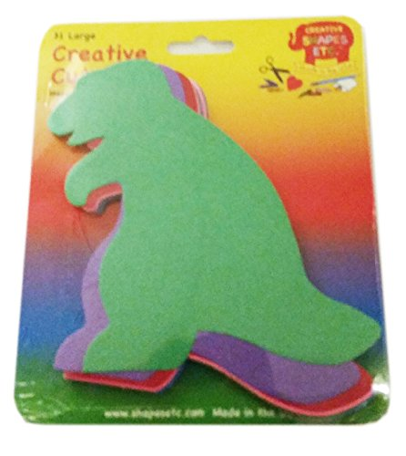 - Dinosaur Large Assorted Color Creative Cut-Outs, 5.5