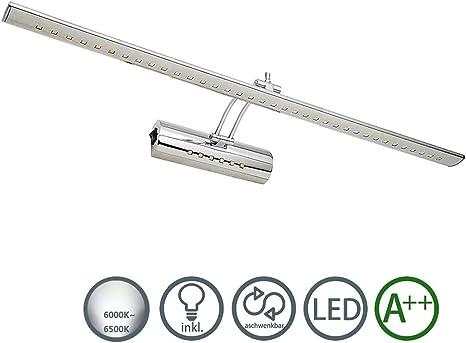 Hengda LED Spiegelleuchte Spiegelleuchte,19W Warmwei/ß Spiegellampe mit Schalter IP44 Schminklicht 180/°Einstellbar Badlampe Edelstahl Badlampe Energieklasse A+ Badleuchte Bilderlampe