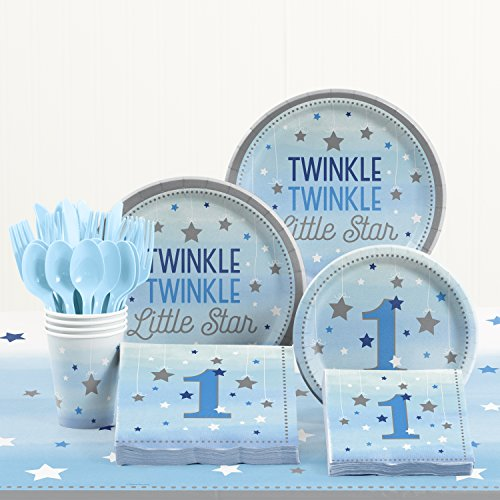 (Creative Converting One Little Star Boy 1st Birthday Party Supplies)