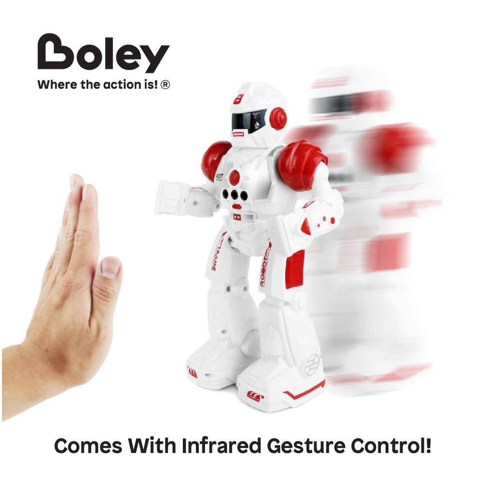 Boley Bot Strong Remote Controlled Robot Toy Gesture Control - Dancing, Singing, Walking Talking Robot Friend Kids - Red by Boley (Image #2)