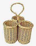 Wicker 3 Bottle Condiment Basket