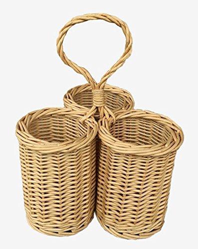 Wicker 3 Bottle Condiment Basket by Red Hamper