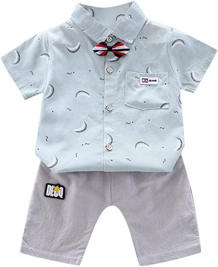 TTLOVE Jungen M/ädchen Bekleidungssets Kinder Cartoon Auto Druck Kurzarm T-Shirt Tops Shorts Outfit Set Kleinkind 1-5 Jahre Kleidung Baby Sommer Kleidung Jungen