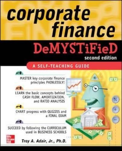 Corporate Finance Demystified 2/E (Debt Instruments)