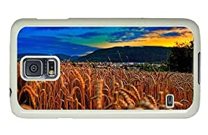 Hipster Samsung Galaxy S5 Case pretty cases wheat field evening PC White for Samsung S5