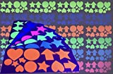 GreyParrot Tape UV Blacklight Reactive, (144 Sticker/Pack), 6 Colors, (Blue/Green / Yellow/Pink / Orange/White), Same Material as UV Blacklight Tape (144 Stickers)