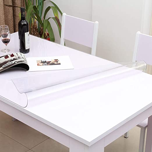 2-mm Thick Crystal Clear PVC Table Cover  Desk Pads Mats Durable Eco-Friendly