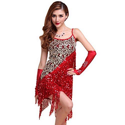 Women's Latin Dance Dress Rumba Dance Ballroom Fancy Dres...