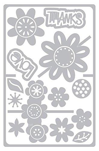 Sizzix SIZ660140 Sbarnard Framelits Die Card Flower Drop in Sbarnard Framelits Die Set