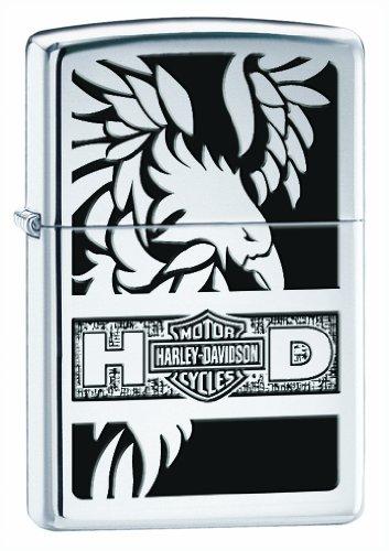 Zippo Harley-Davidson Full Face Eagle Lighter (Silver, 5 1/2 x 3 1/2 ()