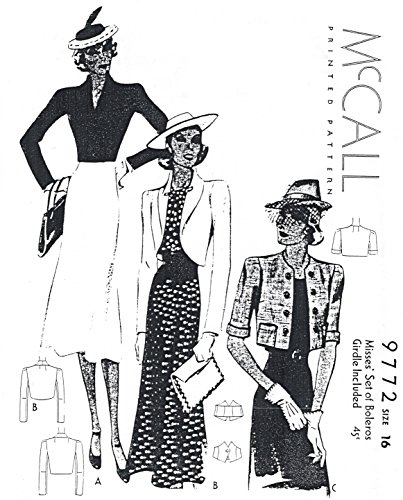 Boardwalk Flapper Adult Costumes (1938 Bolero Jacket with Girdle)