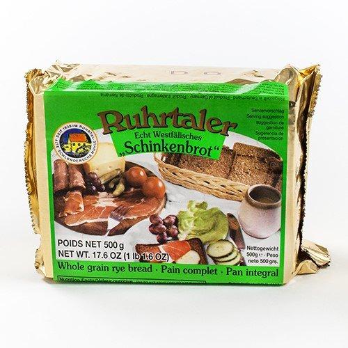 German Whole Grain Rye Bread by Ruhrtaler (1.1 pound) - Whole Rye Bread