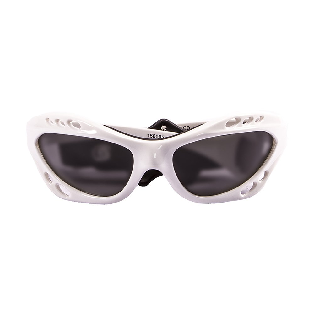 OCEAN SUNGLASSES Cumbuco - lunettes de soleil polarisÃBlackrolles - Monture : Blanc LaquÃBlackroll - Verres : FumÃBlackrolle (15000.3) LOCOGk5