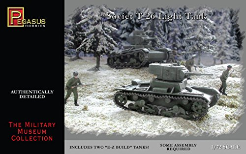 Russian T-26 Light Tanks Miniature 20mm WWII Pegasus for sale  Delivered anywhere in USA