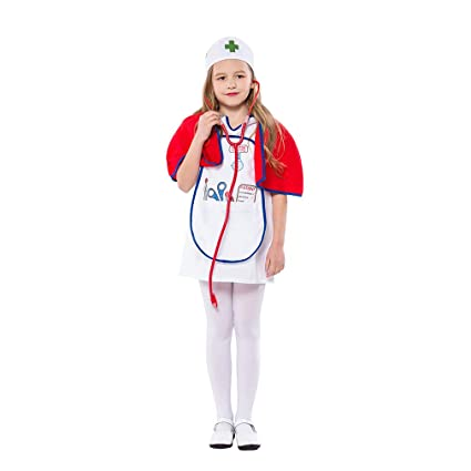 Amazon.com: YaXuan Disfraz de enfermería para niñas, médicos ...