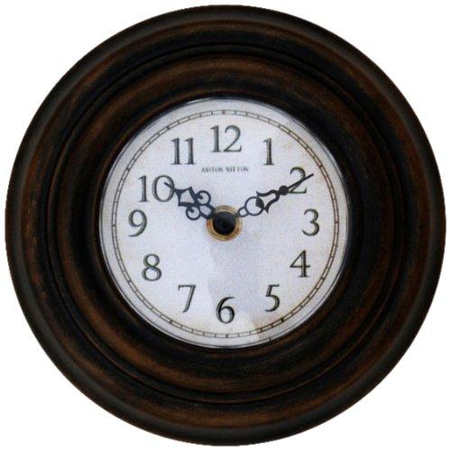 Ashton Sutton Outdoor Clock - Ashton Sutton H07BB Metal Sofit/Cubicle Clock