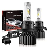 SEALIGHT H13/9008 LED Headlight Bulbs, Dual High/Low Beam, X1 Series Cool Xenon White 6000K 6000LM