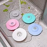 JJSFJH Silicone Floor Drain Hair Stopper Bathtub Plug Bathroom Kitchen Basin Stopper Sink Strainer Basin Water Stopper…