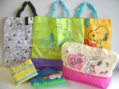 Snoopy bag collection Part 2 all six SNOOPY bag: all six 1 Standard Type Green 2 scan (Snoopy Musical Mobile)